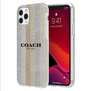 NEW Coach Protective Glitter Case iPhone 11 Pro